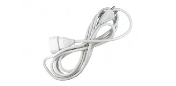 Cables - PROLONGADOR 2X1 BLANCO 10A 3MT
