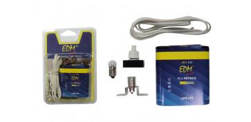 Pilas y baterías - KIT ESCOLAR 2003 PILA+LAMPARA+PORTALAMP+CABLE