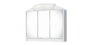 Mobiliario de baño - ARMARIO BAÑO 3P+LUZ 2X40W+ENCH+CAJ 59X51X16- RANDO