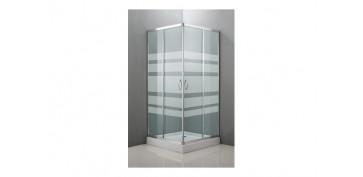 Mobiliario de baño - MAMPARA ANGULAR CRISTAL SERIGRAFIA 80X80X185