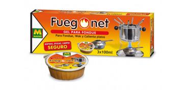 Barbacoas - GEL PARA FONDUE FUEGO NET 3 X 100 ML