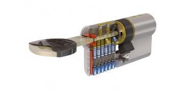 Cerraduras - CILINDRO TX80 NIQUEL LLAVE PUNTOS 30-30
