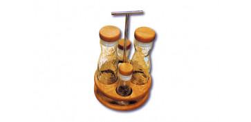Ordenacion y conservacion de cocina - VINAGRERA MOD.PLEC BASE MADERA