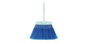 Utiles de limpieza - ESCOBA POLIPROPILENO RIZADO MANGO MADERA 20X2,8CM