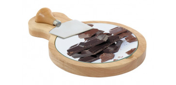 Cuchilleria - TABLA CORTE CHOCOLATE + CUCHILLO