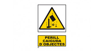 Señalizacion - SEÑAL PERILL CAIGUDA OBJECTES 210X297