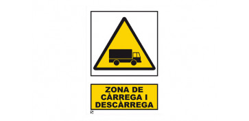 Señalizacion - SEÑAL PERILL ZONA CARREGA I DESCARREGA