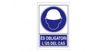 SEÑAL OBLIGACIO CASC---- 210X297PVC
