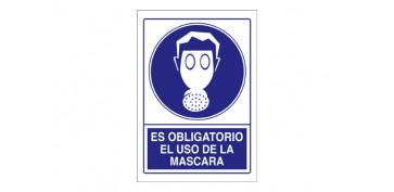 SEÑAL OBLIGACION USAR MASCARA SO-14 210X297PVC