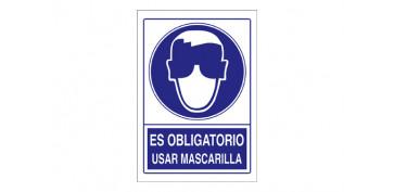 SEÑAL OBLIGACION USAR MASCARILLA SO-16 210X297PVC