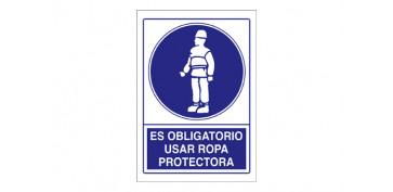 SEÑAL OBLIGACION USAR ROPA PROTECTORA