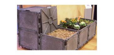 Plantas y cuidado de las plantas - COMPOSTADOR COMBOX BARCELONA 300 L GRIS