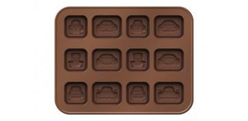 CORTAPASTAS CON MOLDE CHOCOLATE COCHES