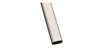 Topes y perchas adhesivas - TUBO ARMARIO OVALADO ALUMINIO MODELO 1 30X15X1,4MM X 2M PLATA 8413023184435