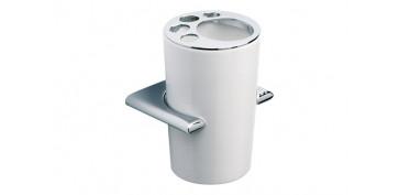 Accesorios para el baño - PORTACEPILLOS PARED RONDA