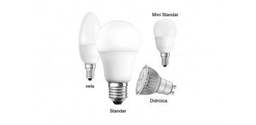 LAMPARA DICROICA LED 7W GU-5,3 LUZ CALIDA
