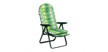 Camping, playa y aire libre - SILLON RELAX CON REPOSAPIES EXTENSIBLE ACEROVERDE TOPOS