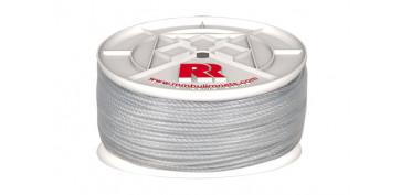 Cuerdas y cintas - CUERDA PE PLASTIFICADA BLANCA 5MM-100 MT