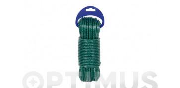 Cuerdas y cintas - CUERDA PE CABLEADA 4C 5MM 10 MT VERDE