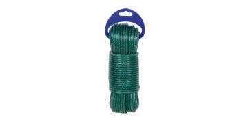Cuerdas y cintas - CUERDA PE PLASTIFICADA VERDE 5MM-5 MT