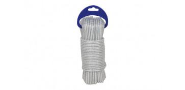 Cuerdas y cintas - CUERDA PE PLASTIFICADA BLANCA 5MM-15 MT