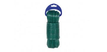 Cuerdas y cintas - CUERDA PE PLASTIFICADA VERDE 5MM-15 MT