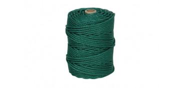 Cuerdas y cintas - CUERDA PE CABLEADA 4C 6MM 100 MT VERDE