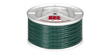 Cuerdas y cintas - CUERDA PE PLASTIFICADA VERDE 5MM-100 MT