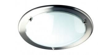 Iluminacion vivienda - PLAFON CROMADO 30 CM OYSTER NIQUEL MATE