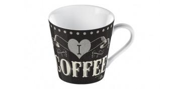 MUG FINE CHINA I LOVE COFFEE NEGRO