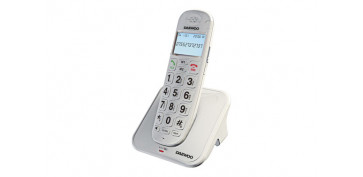 Telefonia - TELEFONO DECT TECLAS GRANDES NEGRO
