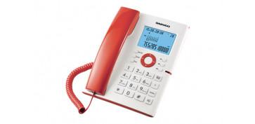 TELEFONO DE SOBREMESA BLANCO Y ROJO