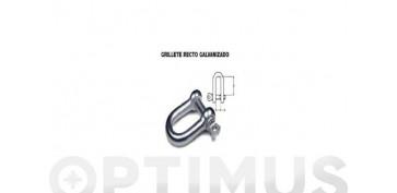 Cables y cadenas - GRILLETE RECTO GALVANIZADO 8