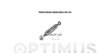 Cables y cadenas - TENSOR GANCHO ANILLA GALV 8