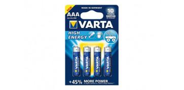 Pilas y baterías - PILA ALCALINA HIGH ENERGY LR03 AAA BL.4