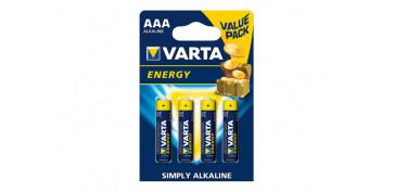 Pilas y baterías - PILA ALCALINA ENERGY LR03 AAA BL.4