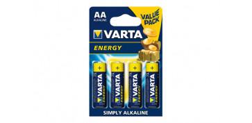 Pilas y baterías - PILA ALCALINA ENERGY LR6 AA BL BL.4