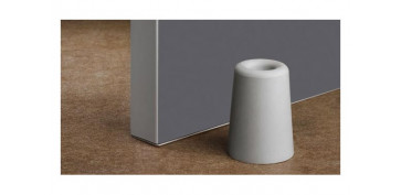 Topes y perchas adhesivas - TOPE PUERTA CON TORNILLO ALTO (BLISTER 1 UNIDAD)GRIS