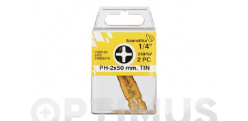 PUNTA ATORN PH 1/4 TIN(BL 2PZ) 1 X 50 MM