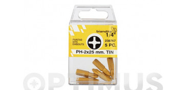 PUNTA ATORN PH 1/4 TIN(BL 5PZ) 3 X 25 MM