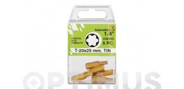 PUNTA ATORN TX 1/4 TIN(BL 5PZ) 10 X 25 MM