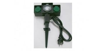 Cables - PICA DE JARDIN CON 2 BASES IP44 Y PROGRAMADOR 1,5 METROS