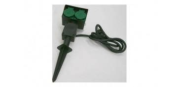 Cables - PICA DE JARDIN CON 2 BASES IP44 1,5 METROS