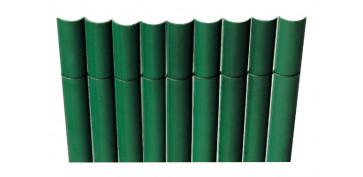 CAÑIZO SINTETICO PVC MEDIA CAÑA PLASTICANE 1,0 X 3 MT VERDE