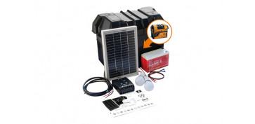 Generacion energia solar y eolica - KIT SOLARLIFE CON ACCESORIOS5W-12V