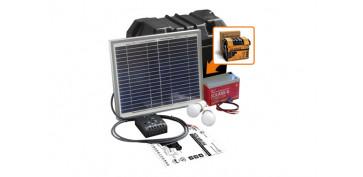 Generacion energia solar y eolica - KIT SOLARLIFE CON ACCESORIOS 10W-12V