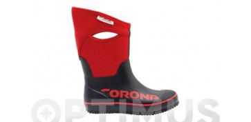 Calzado de seguridad - BOTA GOMA Y NEOPRENO BLACK T.43