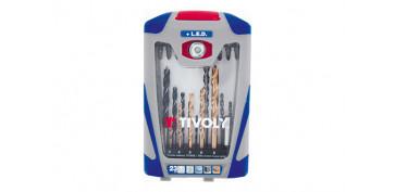 Juegos y kits para herramientas - BROCAS + PUNTAS ATORNILLAR JUEGO 23 PIEZAS T23+LUZ LED