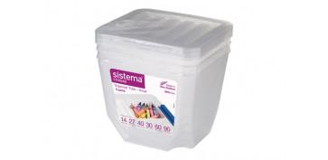 Cajas y baules - ORGANIZADOR PLASTICO 1,3 L PACK 3U 70013