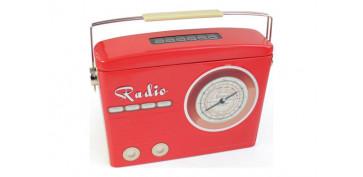 Regalos - CAJA METALICA RADIO ROJA